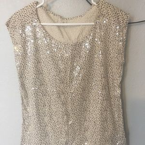 Loft printed tee with sequin front